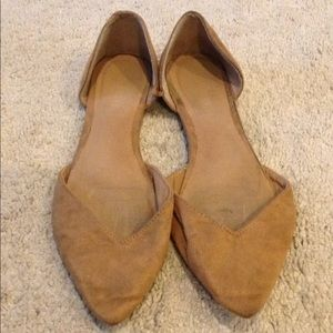 Old Navy tan pointy flats women's 7.5